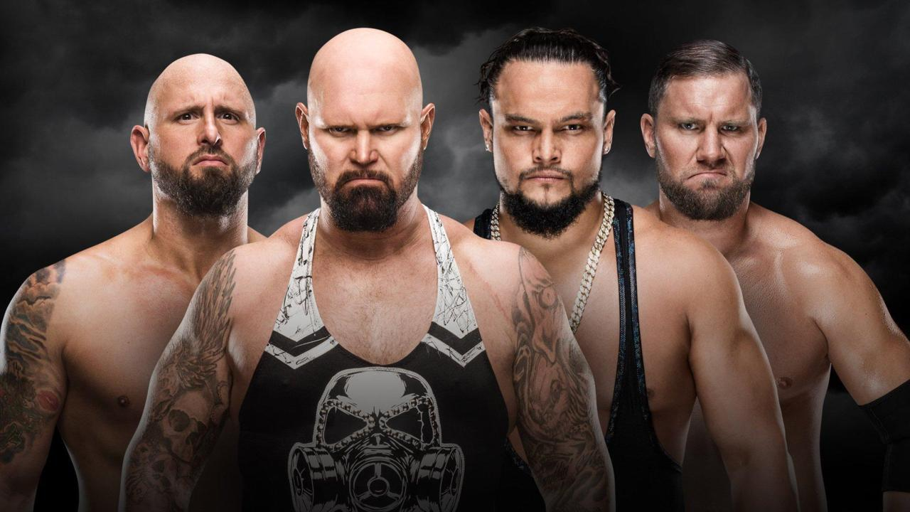 Luke Gallows & Karl Anderson vs. The Miztourage (Kickoff Match)
