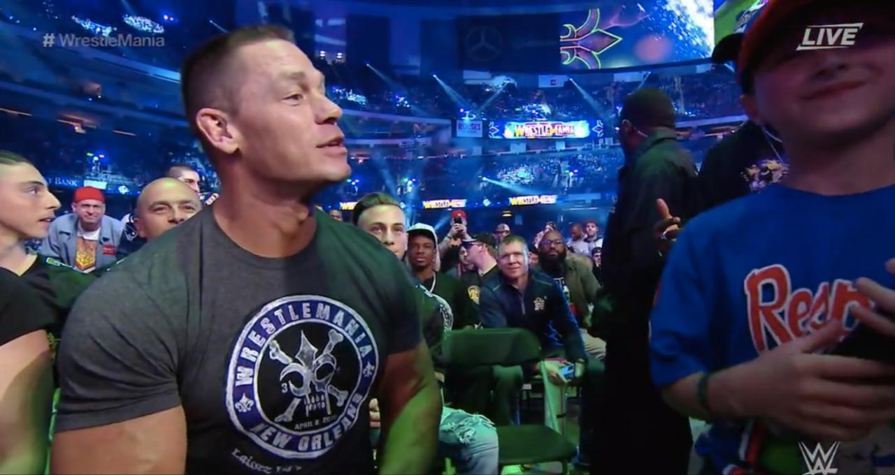 Cena Engaged In A Delightful Conversation