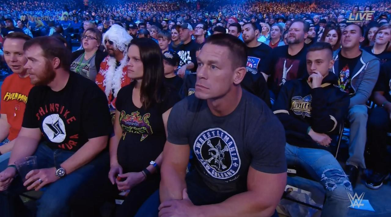 Cena Realizing He Doesn't Know The People Next To Him