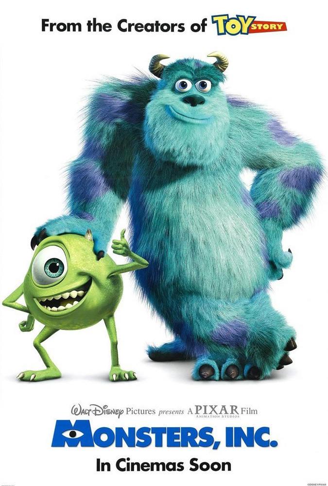 12. Monsters, Inc. (2001)
