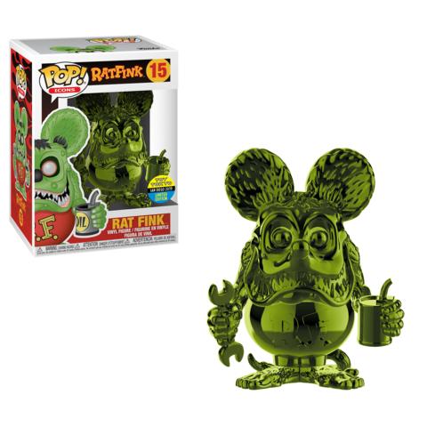 Green Chrome Rat Fink