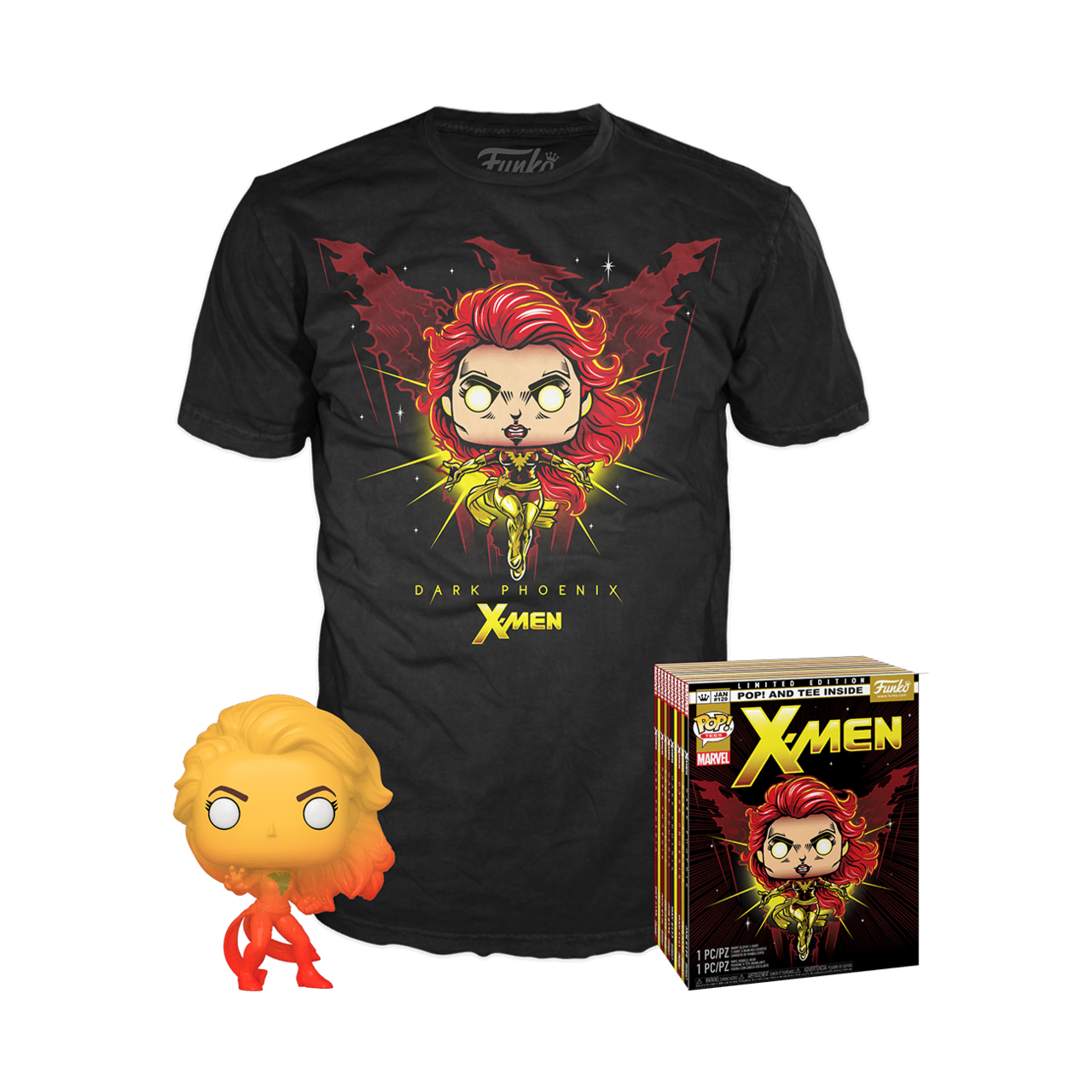 Dark Phoenix Pop and T-shirt