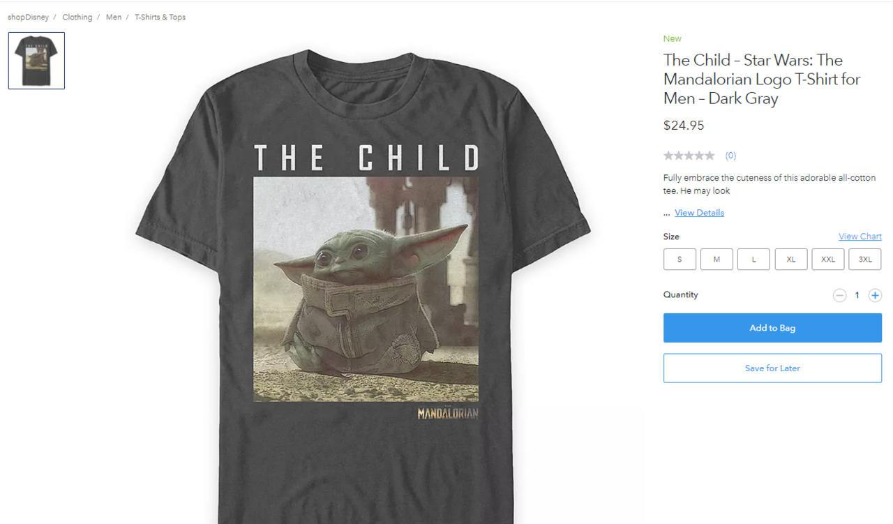 Behold... A Baby Yoda shirt...