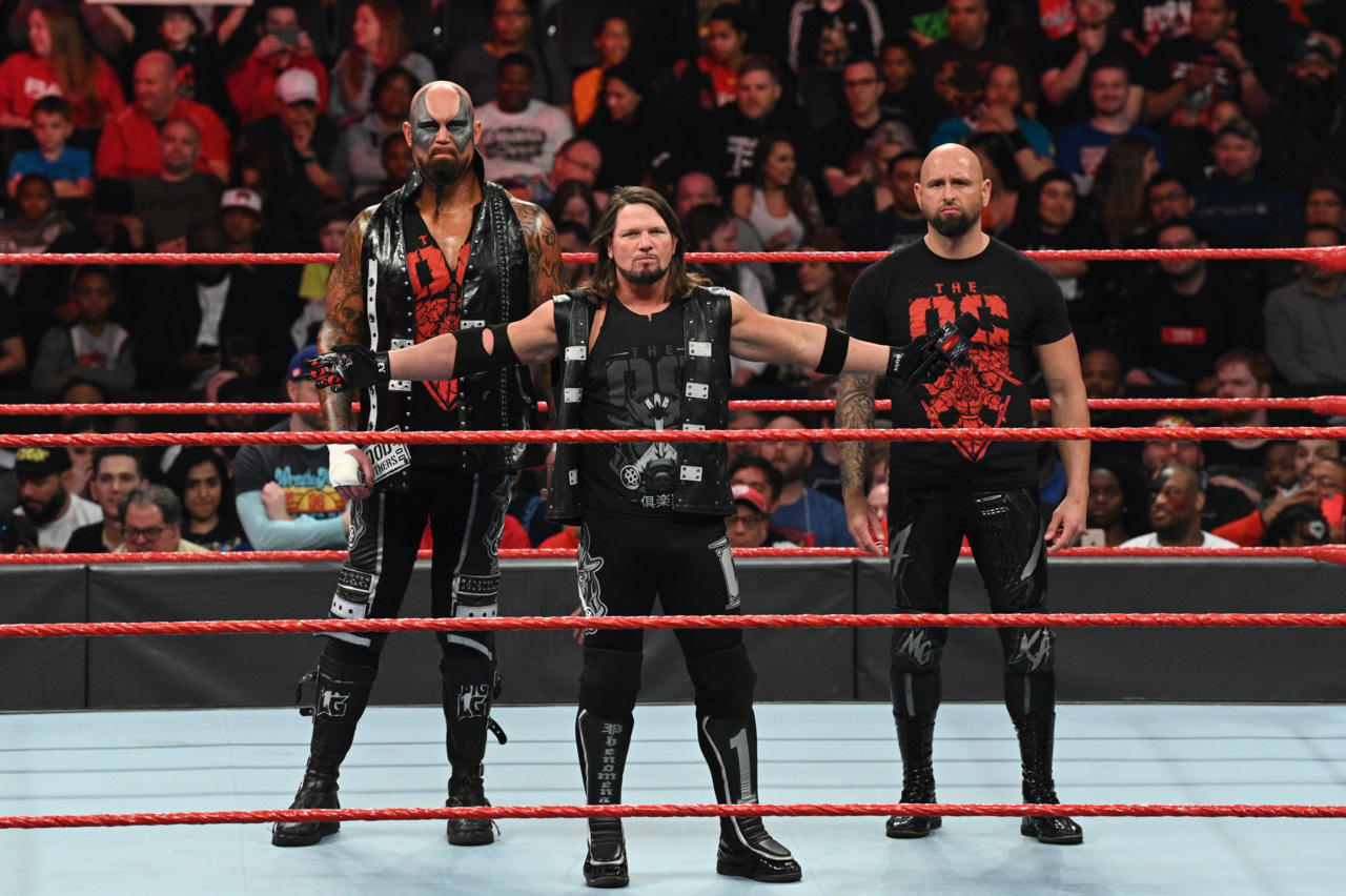 Luke Gallows, AJ Styles, and Karl Anderson (left to right). Photo Credit: WWE