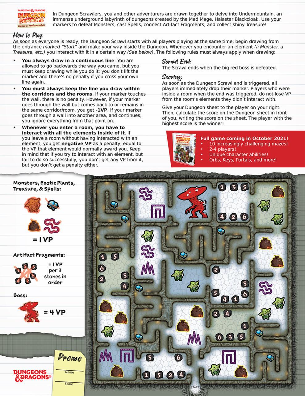 Regras do Dungeon Scrawlers