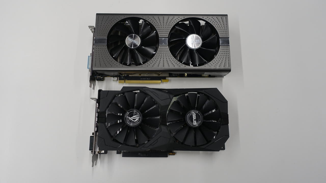 Pictured: RX 580 on top. RX 570 on bottom.