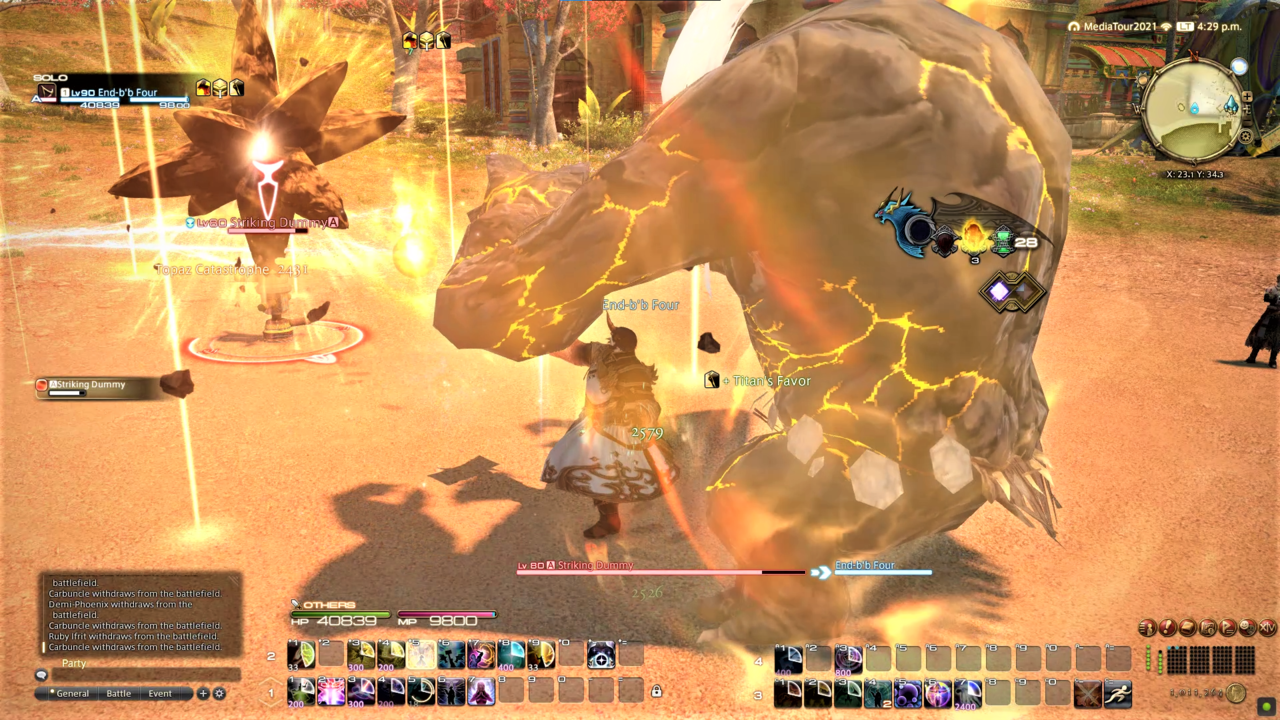 Summoner being able to call in full-on Primals now is a super rad change. Look at our boy Titan go!
