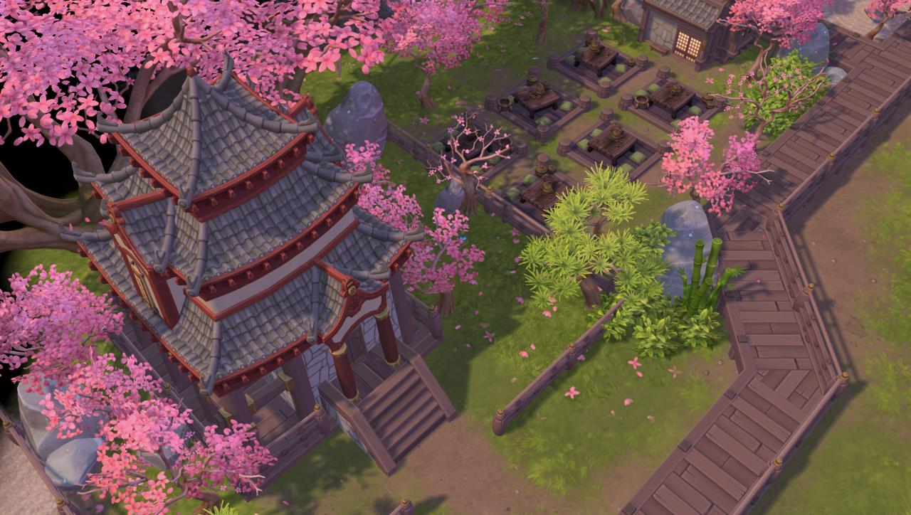 Heroes of the Storm's adaptation of Overwatch's Hanamura map.