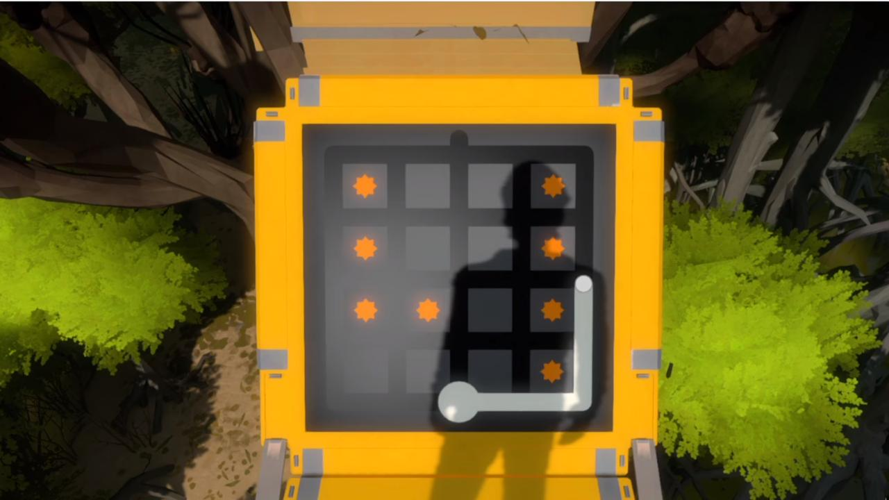 One of the many mind-bending puzzles that The Witness throws at you.