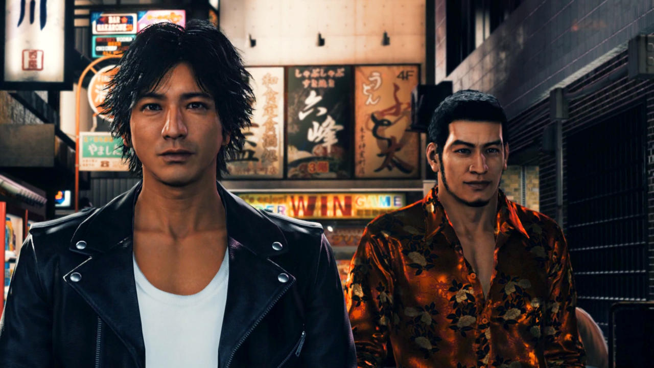 Takayuki Yagami (left), Masaharu Kaito (right), two misfits from opposite ends of justice whose circumstances have them caught in the middle.