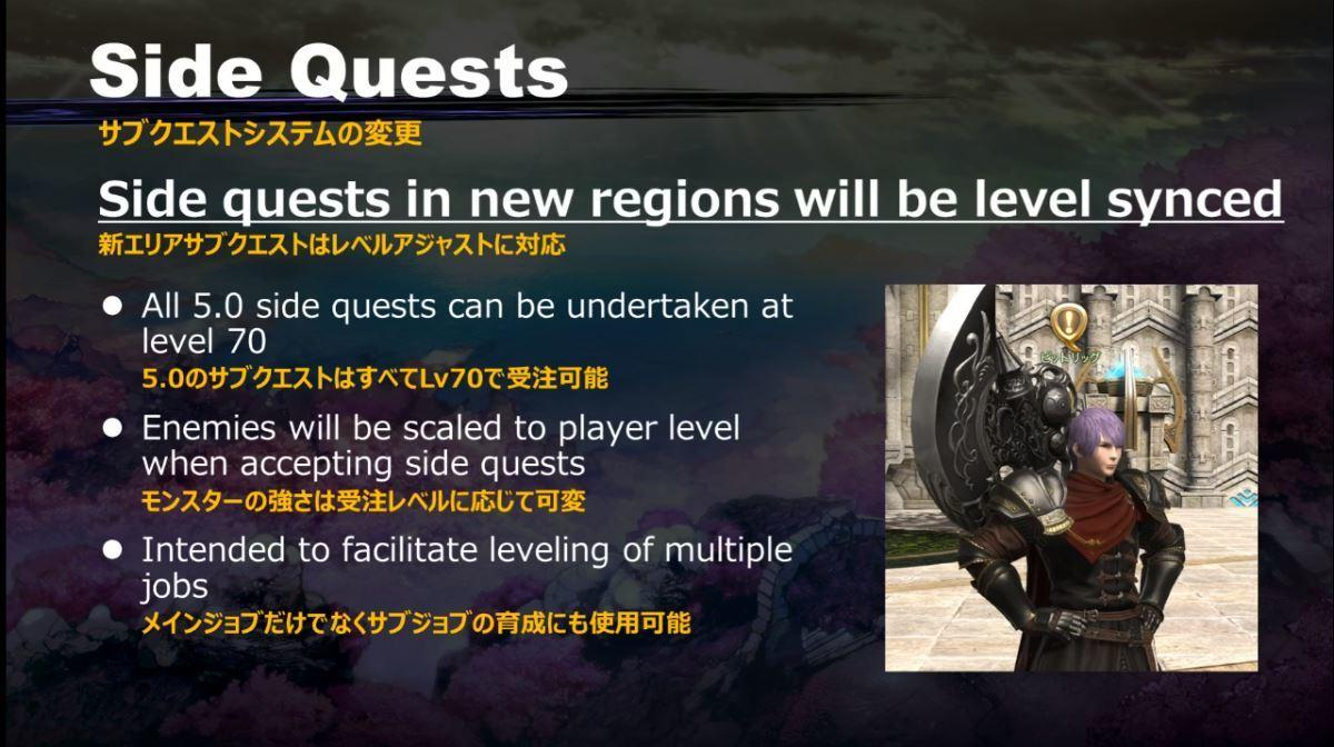 Level Sync For Side Quests