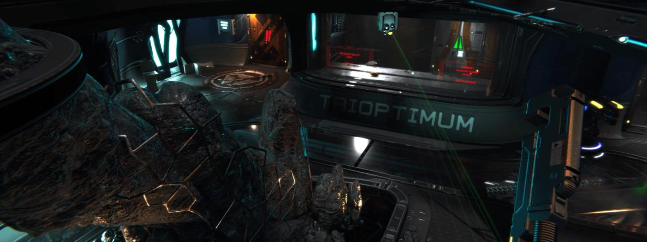 Spector talks about giving players a chance to plan. This early screenshot from System Shock 3 may be showing one of those moments.
