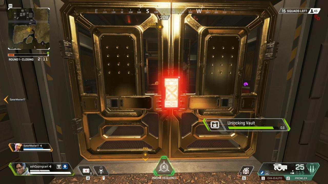 Opening the vault door takes a few seconds.