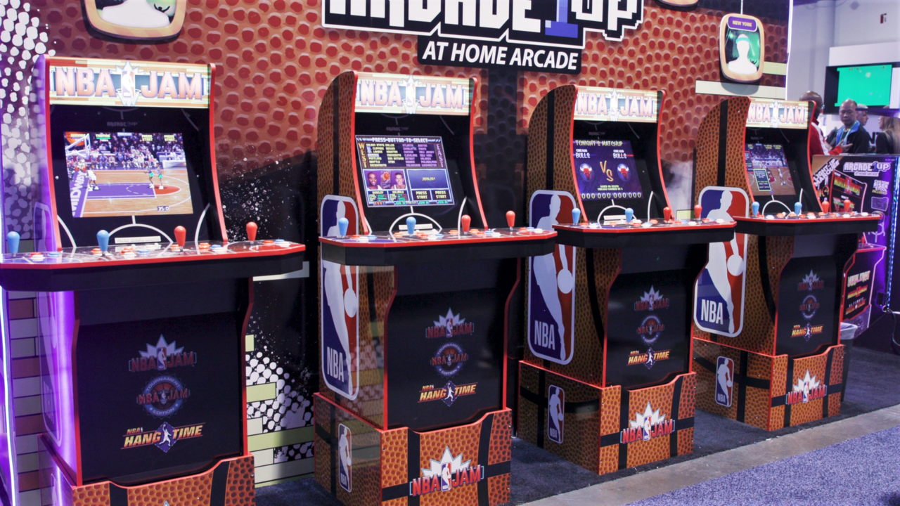 NBA Jam cabinet from Arcade1Up