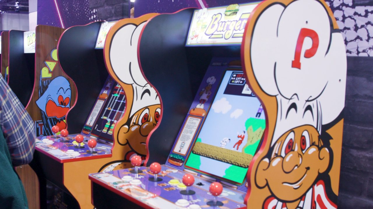 Limited-edition Burger Time cabinet from Arcade1Up