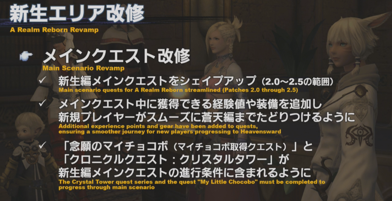 A slide from the Letter From The Producer livestream presentation.