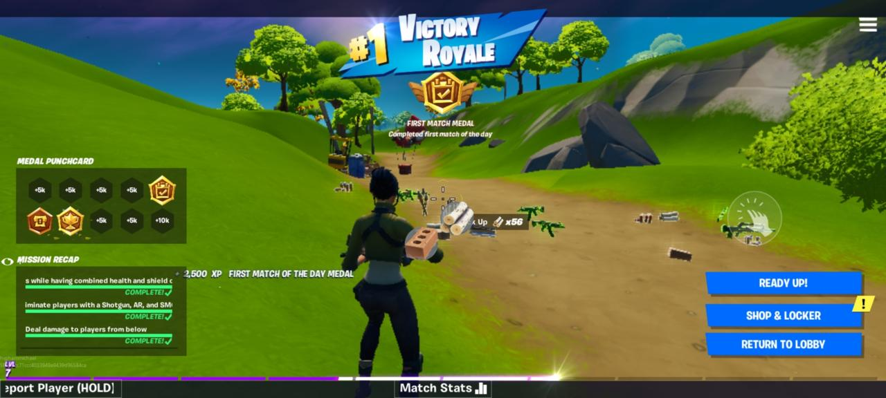 A screenshot of Fortnite on the OnePlus 8. Higher frame rate can help in-game performance as it did here running 90 FPS.