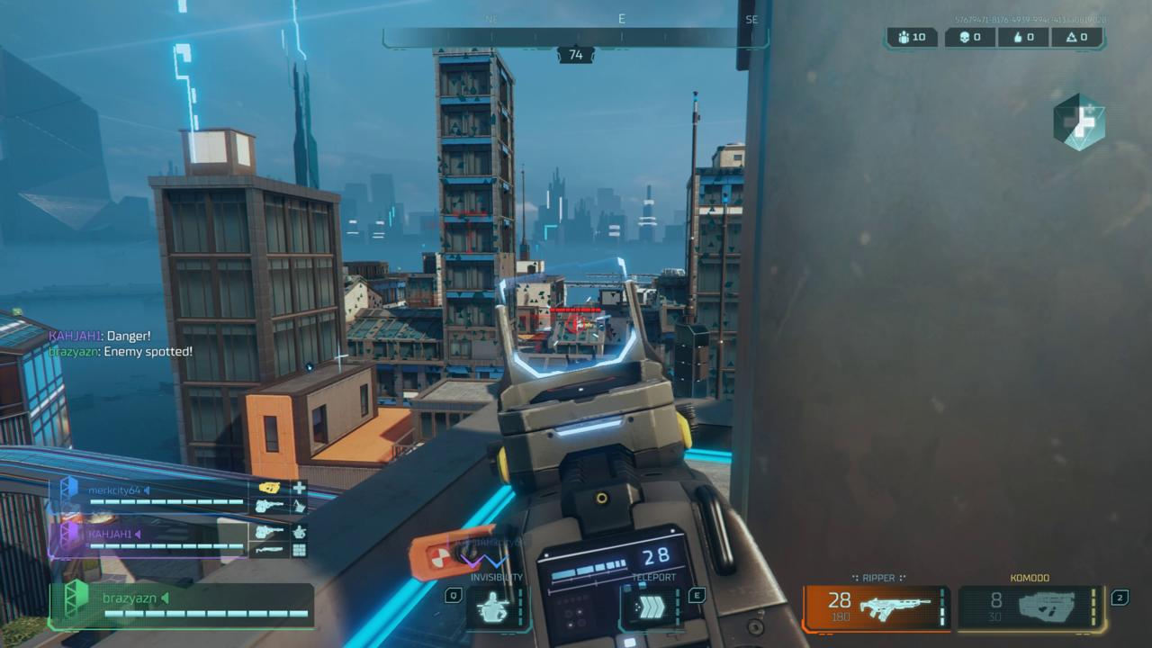 Many combat scenarios will take place across rooftops with player hopping around in air firing rockets.