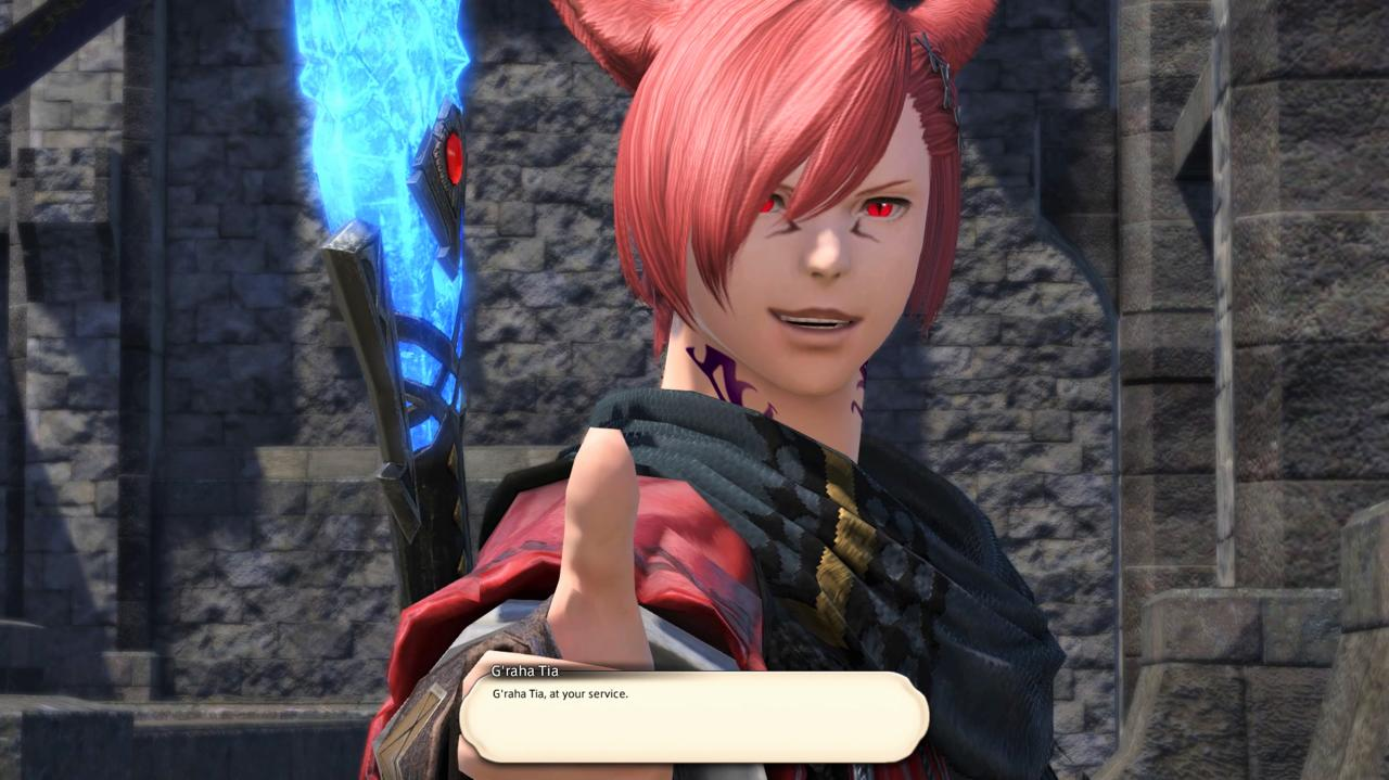 A catboy reborn: G'raha Tia returns to his home and original body, ready to join the Scions for the foreseeable future.