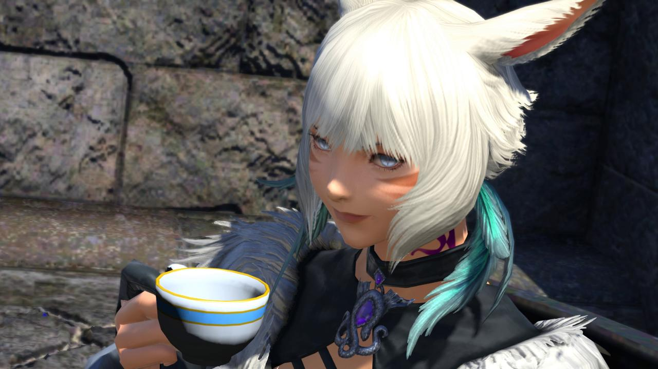 Y'shtola kicks ass and sips tea, and she's all out of tea.