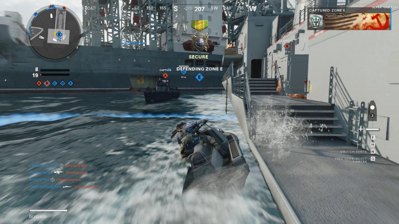 Getting between capture points efficiently in Armada will require using sea vehicles and ziplines.