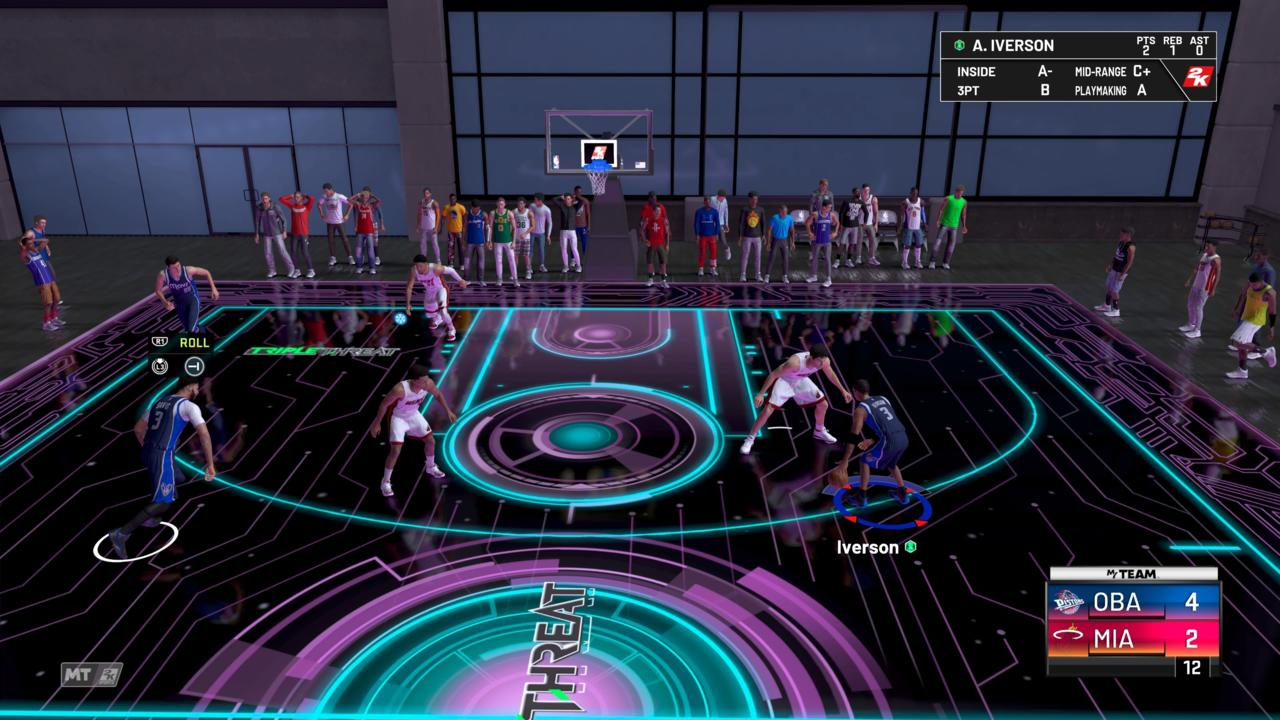 MyTeam Triple Threat matches get a futuristic Tron-like makeover.