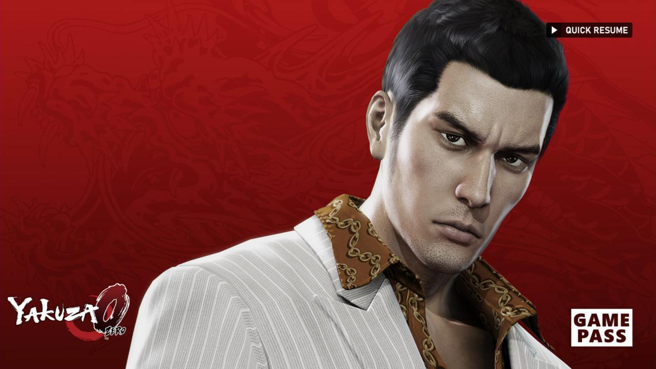 The only downside to Quick Resume is that we only get this staredown from Kiryu for about eight seconds.