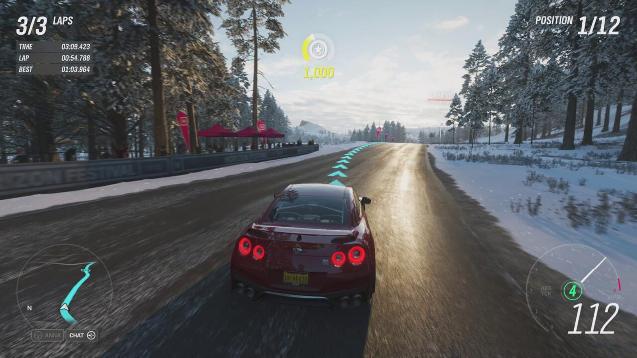 Forza Horizon 4's Series S optimizations help it run a smooth 60fps.