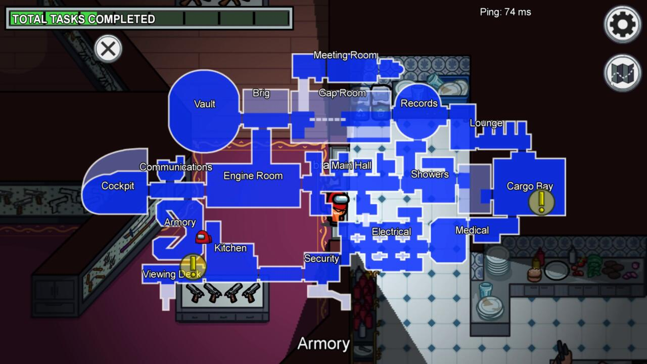 The pathways between the important rooms can be tough to navigate, giving imposters plenty of opportunities to strike.