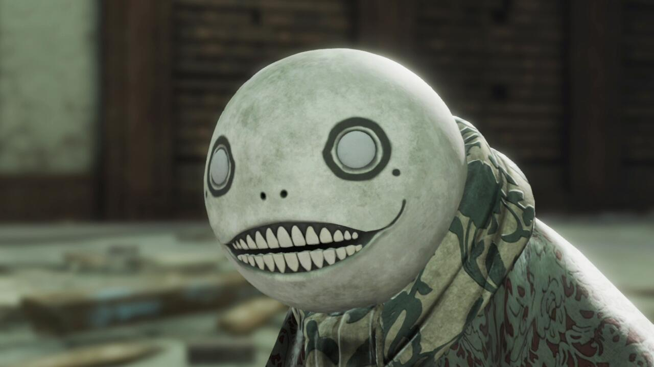 Emil is the character from Nier Replicant who dons the headpiece that's synonymous with the series and Yoko-san.