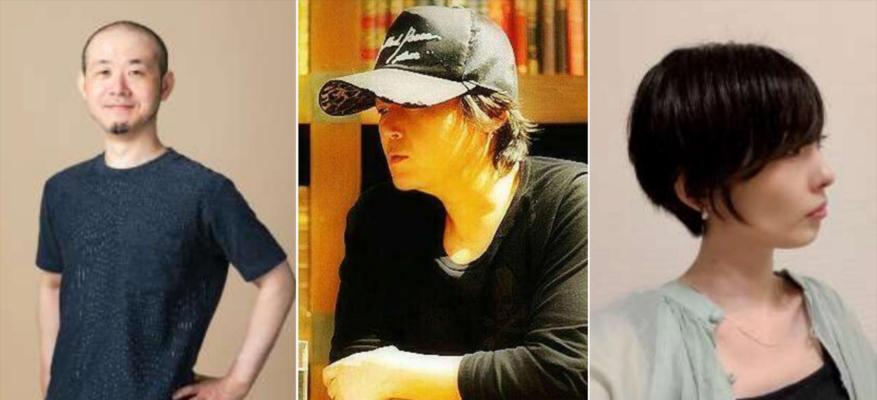 Left to right: Gen Kobayashi, Tetsuya Nomura, Miki Yamashita (photos provided by Square Enix)