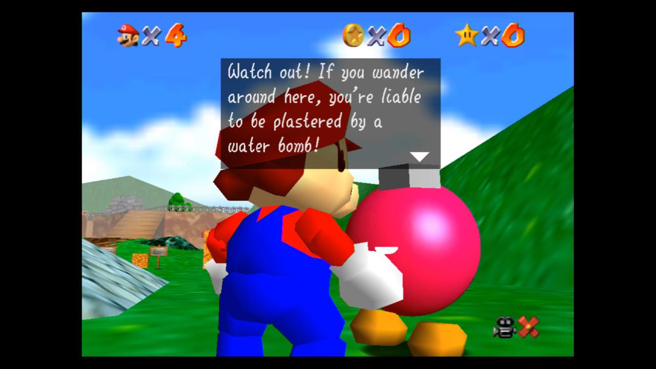 Super Mario 64 captured on Nintendo Switch.