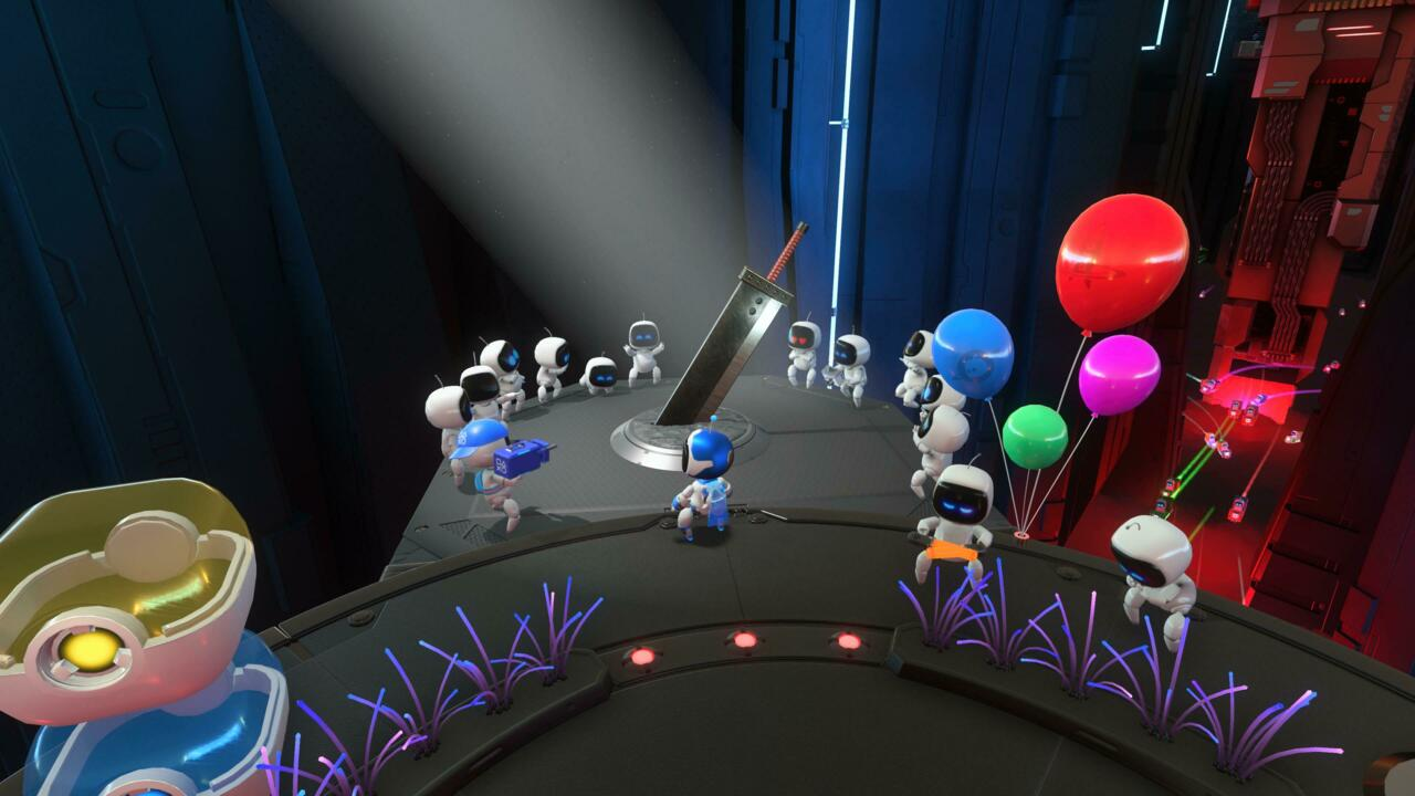 The levels in Astro's Playroom are populated by PlayStation references and expressive bots.
