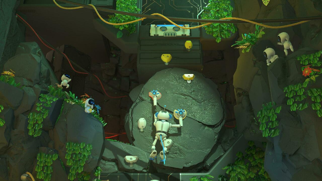 In one level, you scale walls in a monkey suit using minor motion controls and the adaptive triggers.
