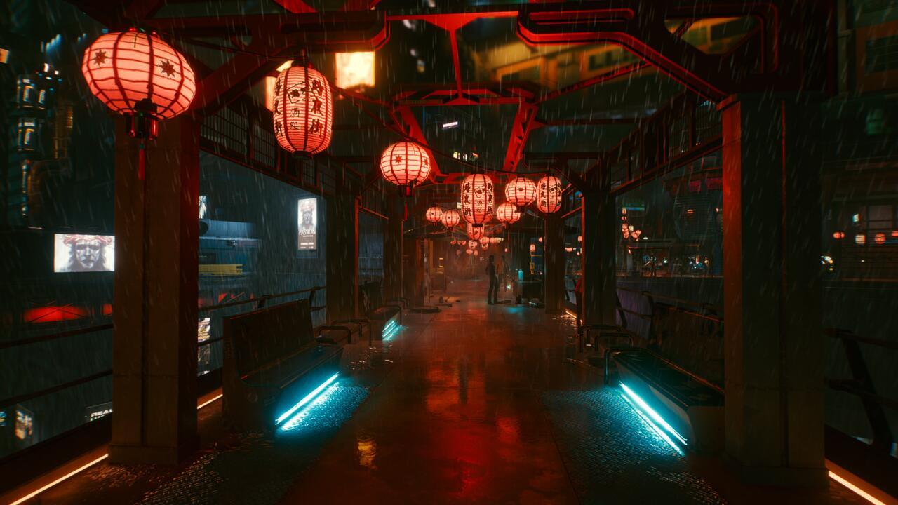 Scenes from Night City.