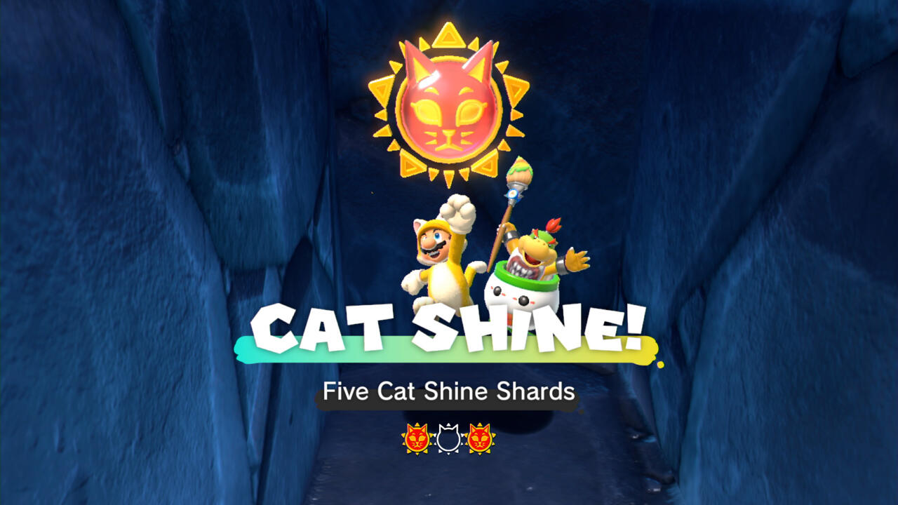 Finding a Cat Shine collectible in Bowser's Fury