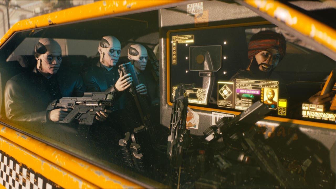 A scene from Cyberpunk 2077