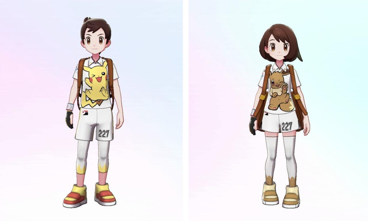 Pikachu uniform and Eevee uniform