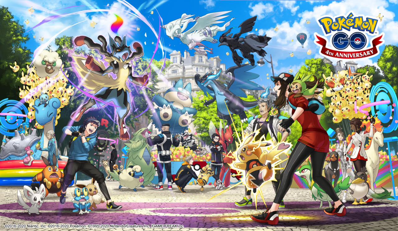 Pokemon Go fourth anniversary artwork