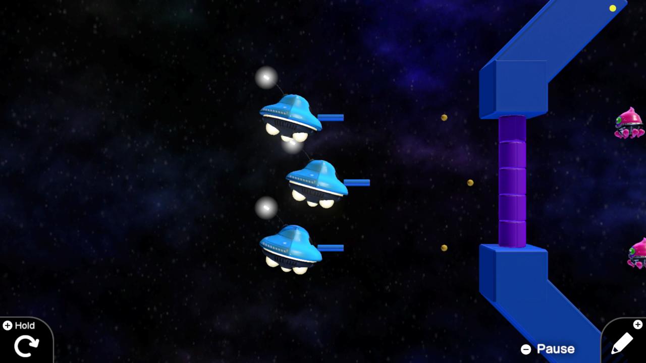 Alien Blaster, um dos sete jogos que você aprende a fazer na Game Builder Garage