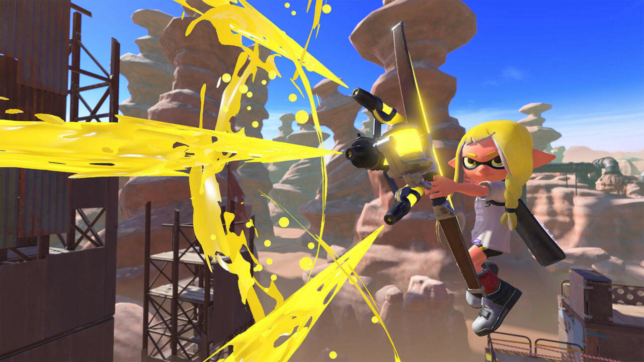 The bow, a new weapon being introduced in Splatoon 3