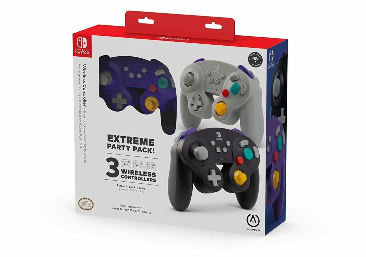 PowerA GameCube-Style Switch Controller Triple Pack