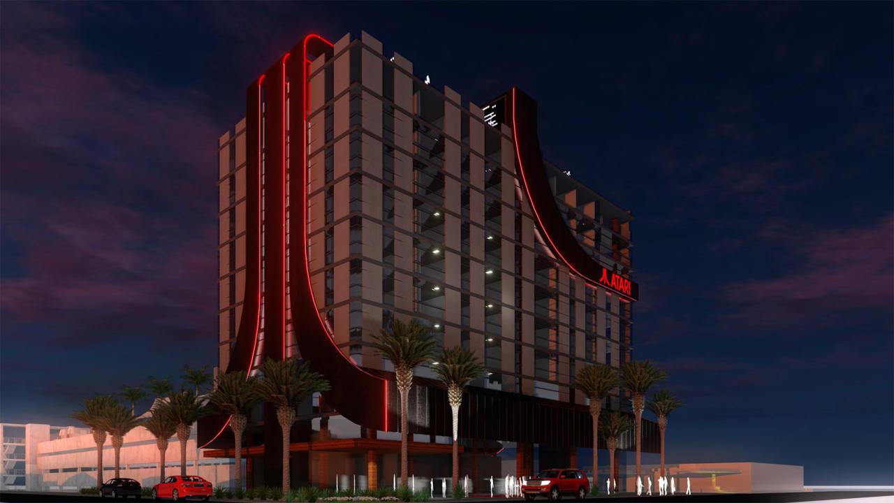 The Atari Hotel kinda looks like a corporate office building.