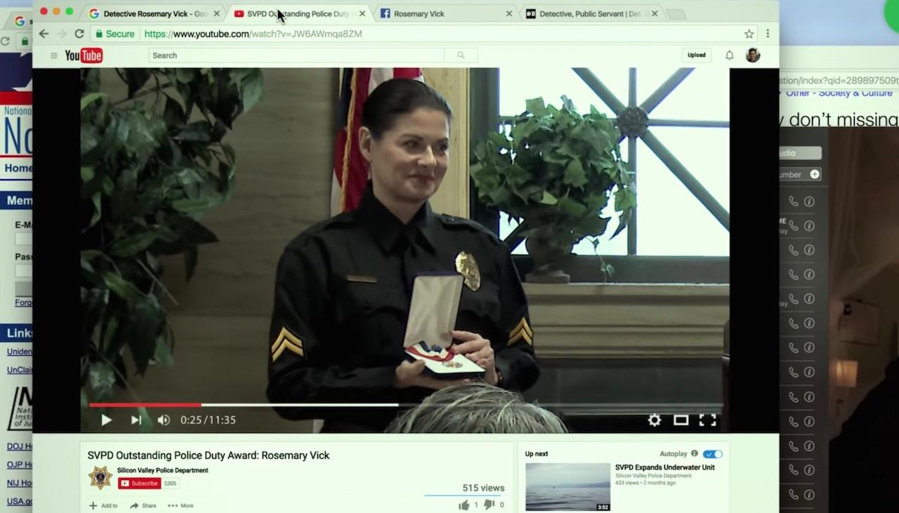 2. Detective Rosemary Vick tells a revealing story.