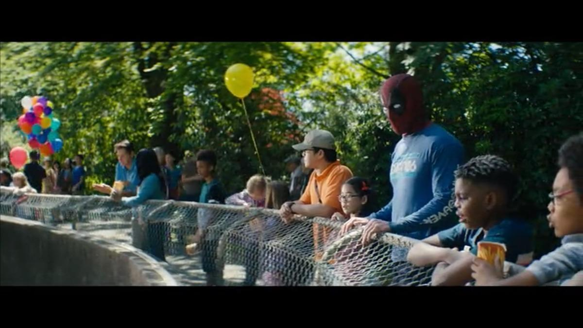 15. Deadpool's suicide attempts from the extended cut are included