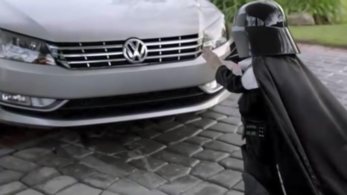 BEST: Volkswagen takes on Star Wars with tiny Darth Vader (2011)