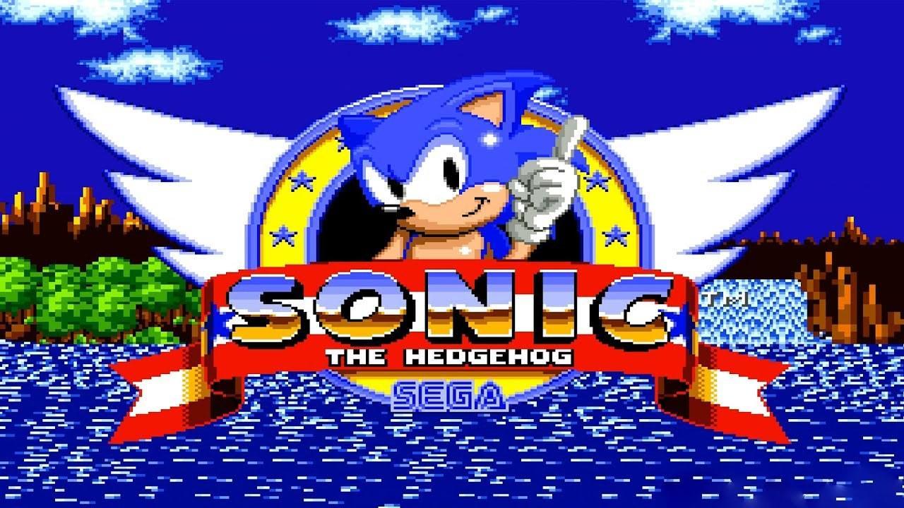 2. Sonic runs through Green Hill Zone