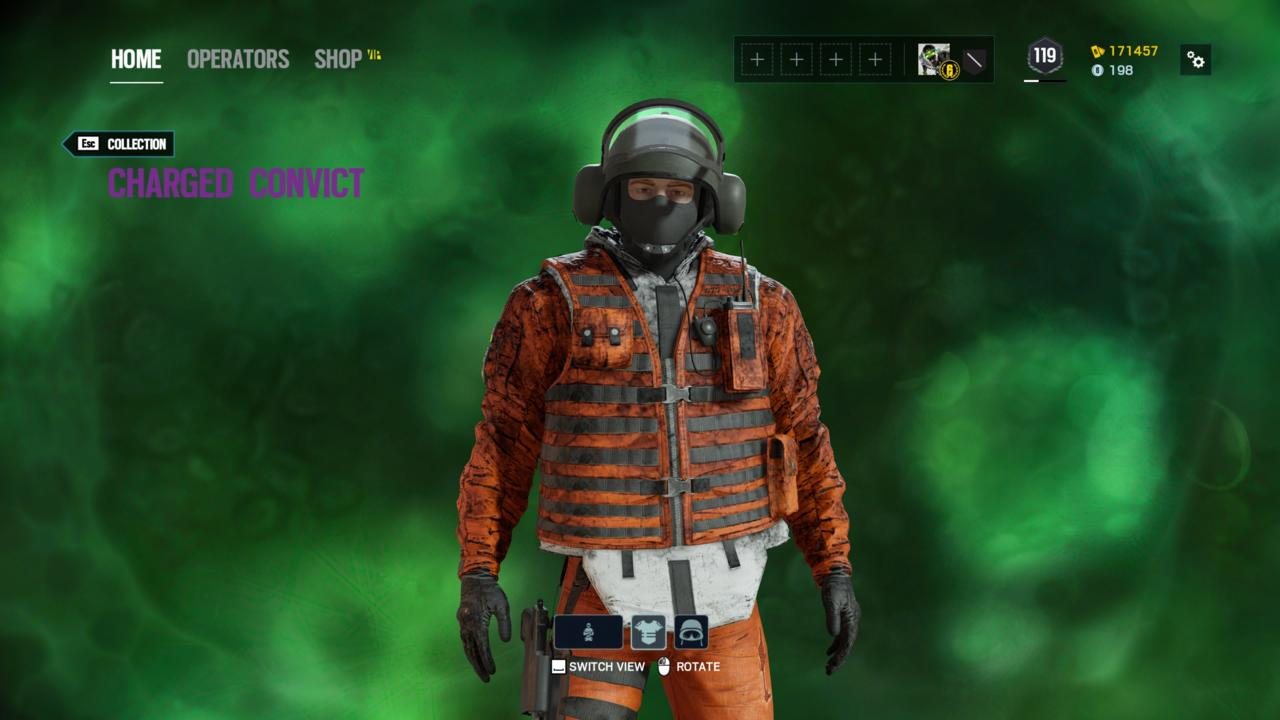 Operator: Bandit - Charred Convict (Outfit)