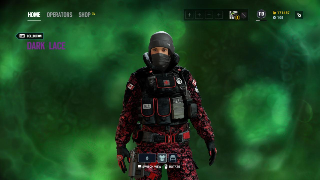 Operator: Frost - Dark Lace (Outfit)
