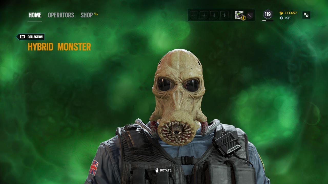 Operator: Smoke - Hybrid Monster (Head)